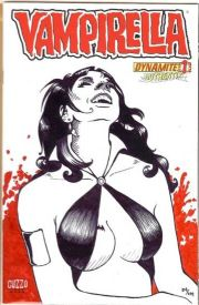 Vampirella #1 Dynamic Forces Authentix Signed & Remarked Guzzo DF COA Harris comic book